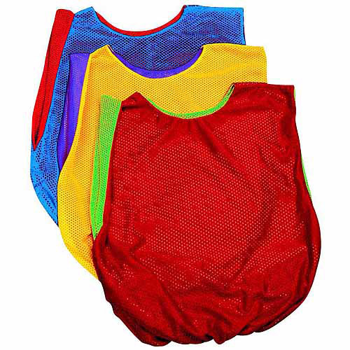 Sportime Dub-L-Scrim Pinnie, Elastic Waist Band, Multiple Sizes, Yellow and Violet