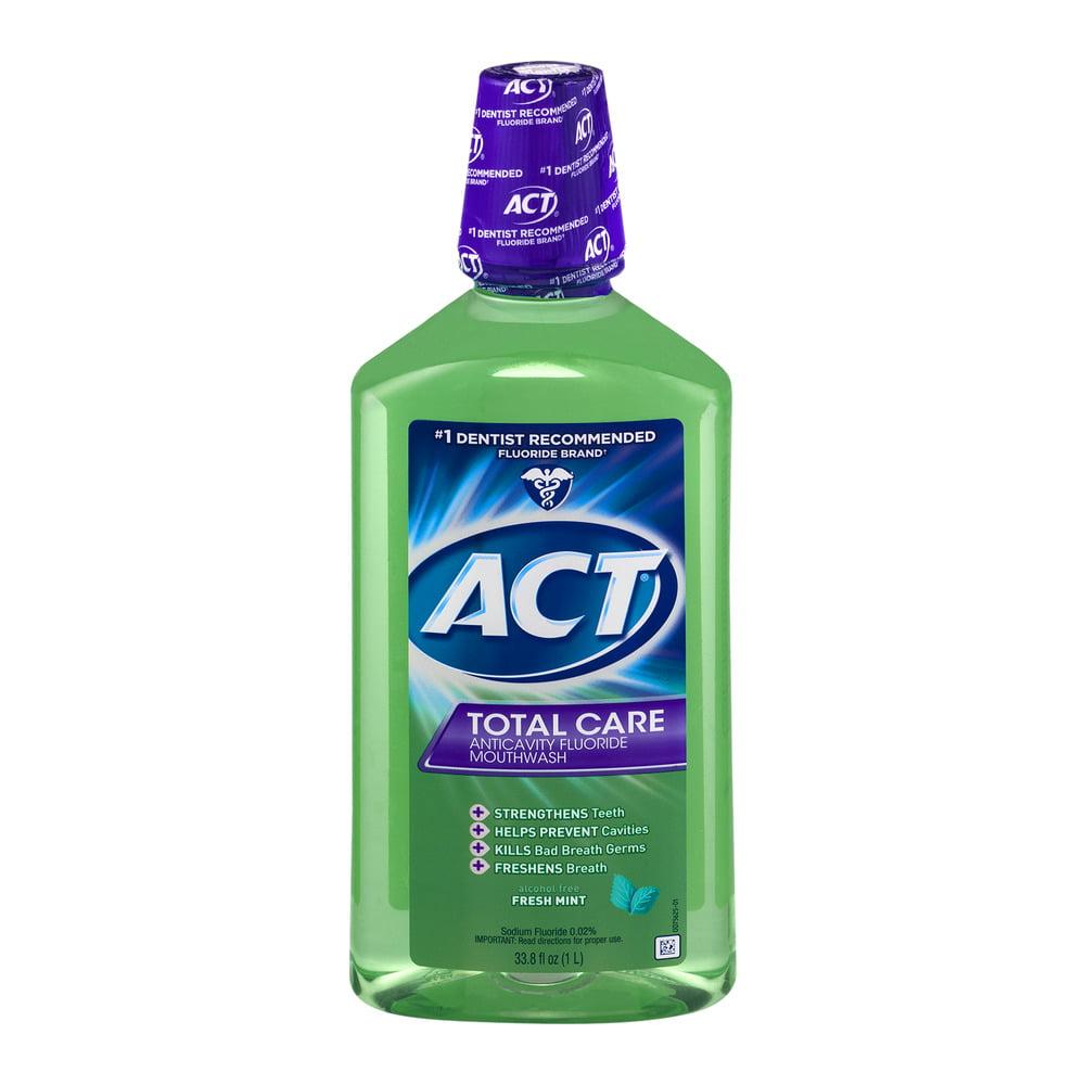 ACT Total Care AntiCavity Fluride Fresh Mint Mouthwash, 33.8oz