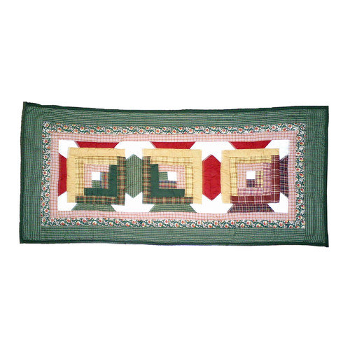 Patch Magic Snowflake Log Cabin Table Runner