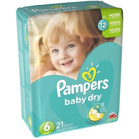 Pampers Baby Dry Diapers, Size 6, 21 Diapers–Walmart-Cash Back