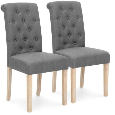 Best Choice Products Set of 2 Tufted High Back Parsons Dining Chairs