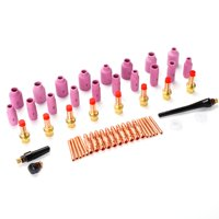 Yosoo 51Pcs Tig Welding Torch Ceramic Cup Gas Lens Collet Accessories and Part Kit for WP-17/18/26 Series