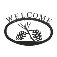WEL-89-L 1 EACH Pinecone Welcome Sign Large