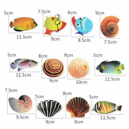 6pcs/set Bathtub Non Slip Sticker Sea Fish Conch Pattern Anti-skid Safety Bath Tub Shower Bathroom Decor - image 8 of 9
