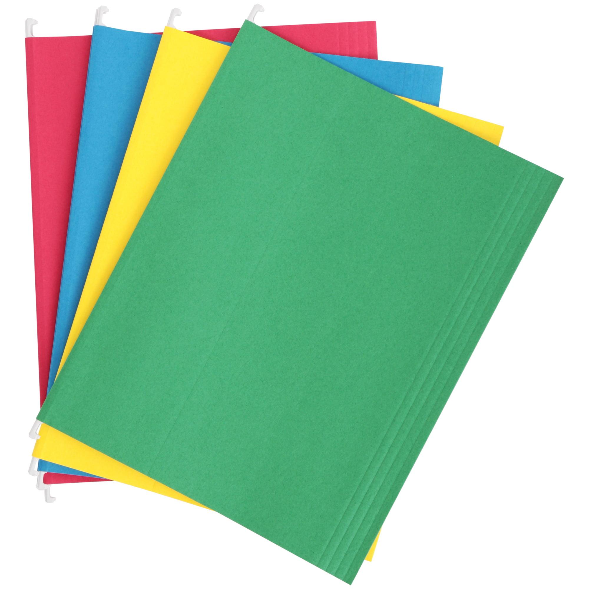Pen+Gear Hanging File Folders, Letter Size, Assorted, 12 Pack