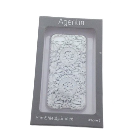 Agent 18 Silmshield Case for Apple iPhone 5 / 5S - White Lace ()