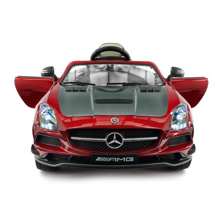 2018 Mercedes Sls Amg 12v Battery Ed Motorized Ride On Toy Car With Built In Lcd Tv Led Lights Leather Seat