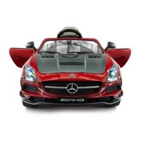 2018 Mercedes SLS AMG 12V Toddler Power Ride on Toy with Built in LCD TV, LED Lights, Leather Seat