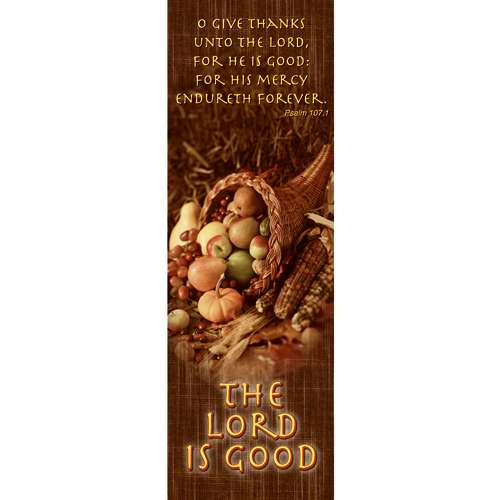 Banner-Give Thanks-Cornicopia (2' x 6') (Indoor)