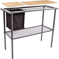 Weatherguard Steel Potting Bench with Wood Top