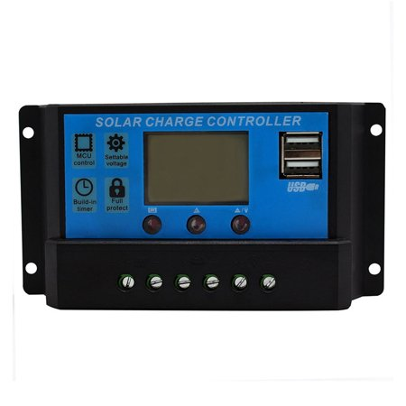 30A 12V/24V Solar Panel Charger Controller Battery Regulator LCD USB