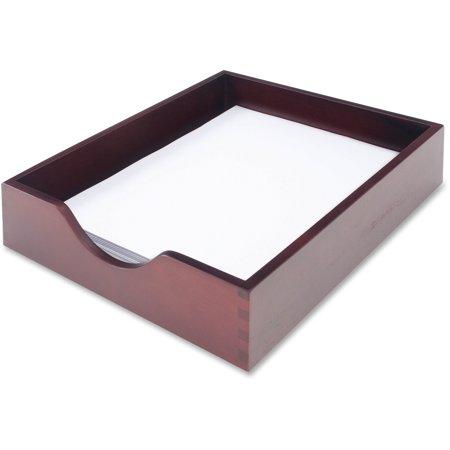 Carver Hardwood Letter Stackable Desk Tray, Mahogany