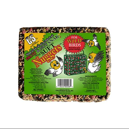 C&S Products Fruit and Nut Wild Bird Snak with Suet Nuggets