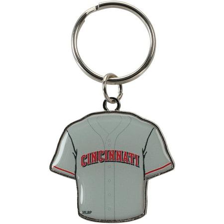 Cincinnati Reds Reversible Home/Away Jersey Keychain - No Size