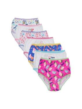 Peppa Pig Underwear Toddler Girls Panties, 7 Pack (Toddler Girls)