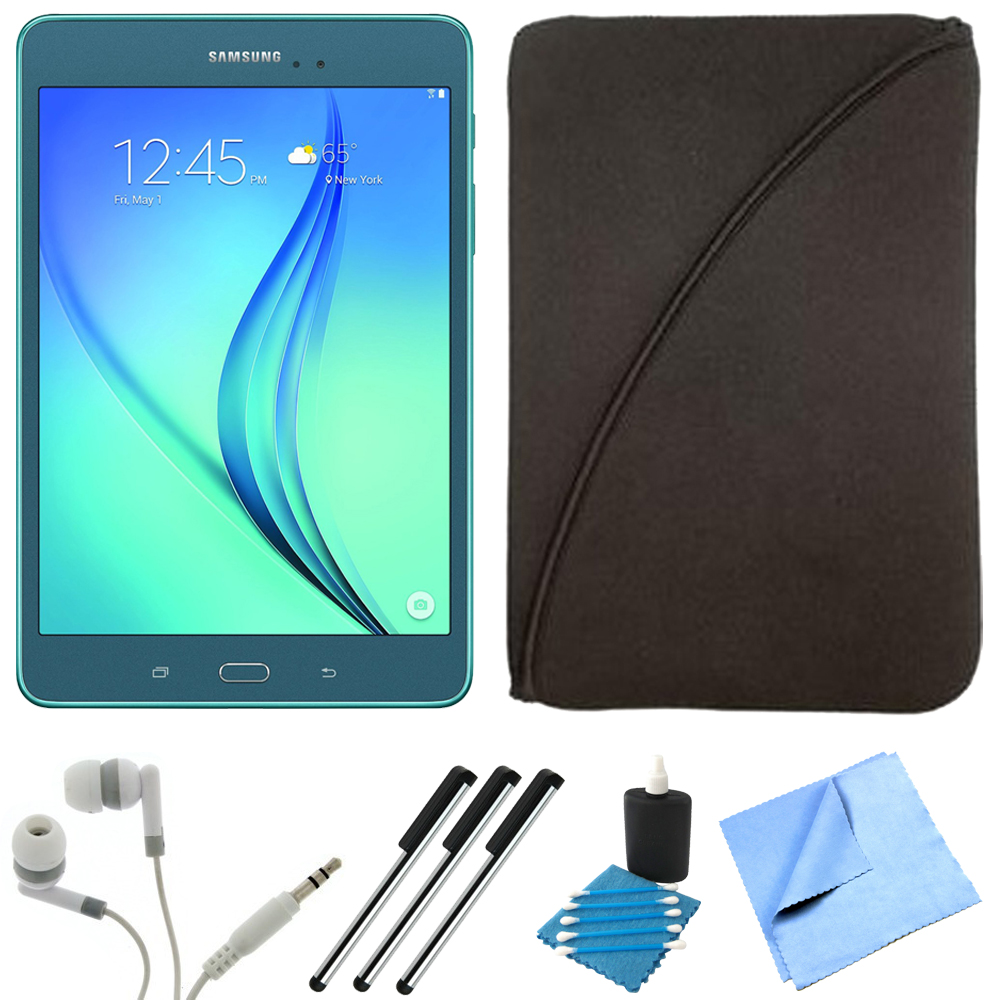 Samsung Galaxy Tab A SM-T350NZBAXAR 8-Inch Tablet (16 GB, Smoky Blue) Bundle