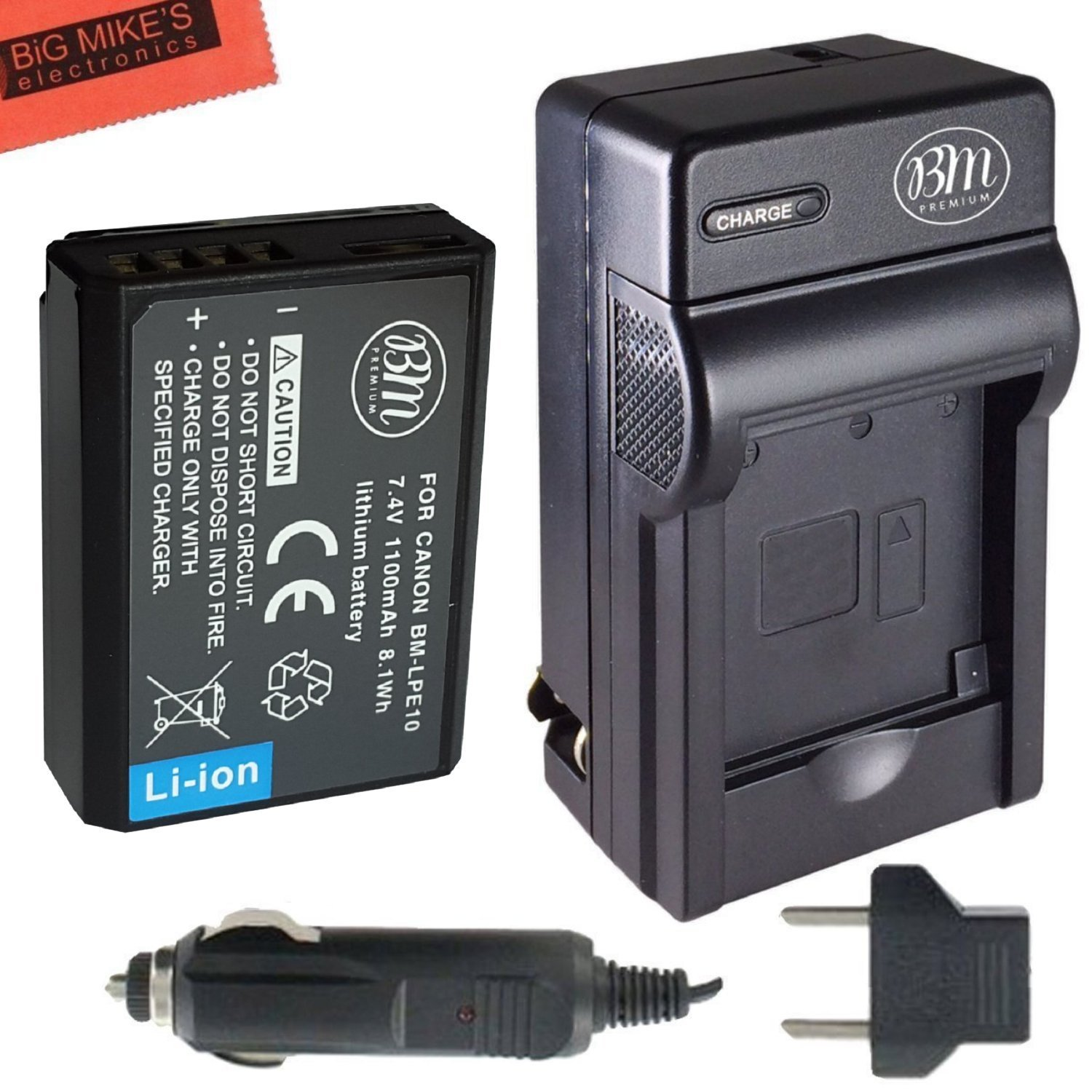 Bm Premium Lp E10 Battery And Charger Kit For Canon Eos