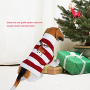 Zerone Christmas Fashionable Pet Warm Sweater Cute Stripe Clothes Cat Dog Winter Coat for Christmas,Pet Sweater, Dog Winter Clothes