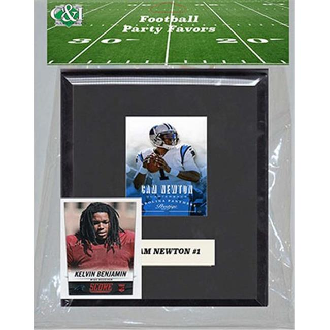 Candlcollectables 67LBPANTHERS NFL Carolina Panthers Party Favor With 6 x 7 Mat and Frame