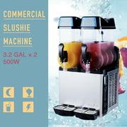 Preenex Commercial Slushy Juice Machine 2 Tanks 24L 2 Cylinder Commercial Frozen Drink