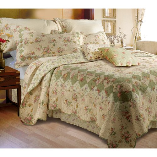Global Trends Bloomfield Ivory Quilt Bedding Set