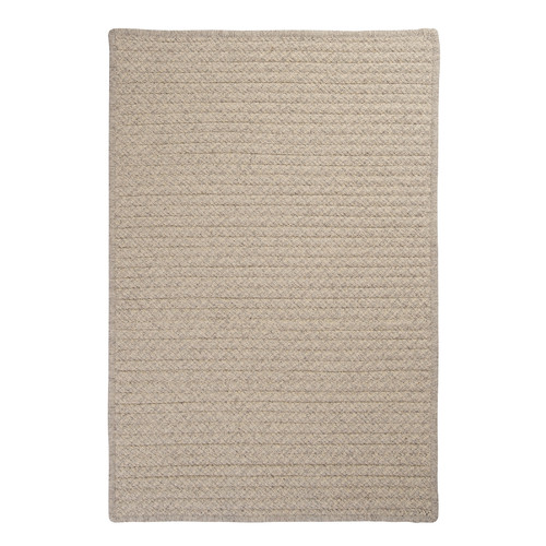 Colonial Mills Natural Wool Houndstooth Braided Cream Area Rug