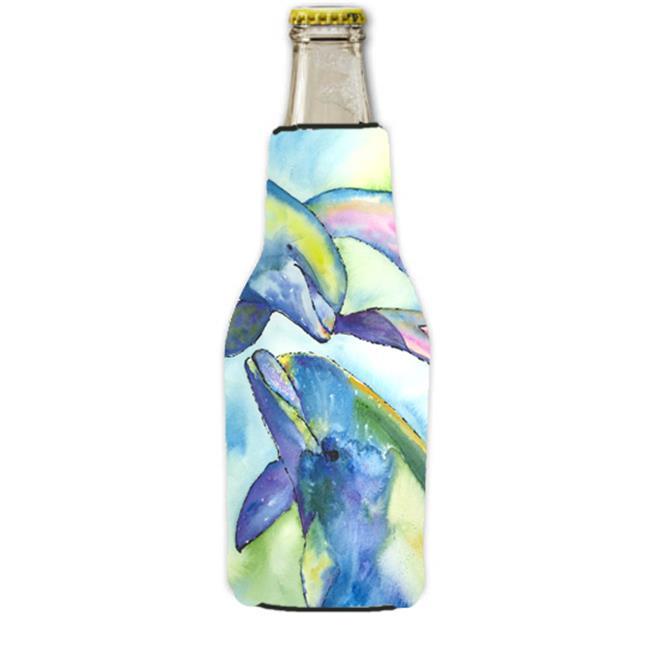 Carolines Treasures 8548BOTTLE Dolphin Longneck Beer bottle sleeve Hugger with Zipper 12 oz. - image 1 de 1