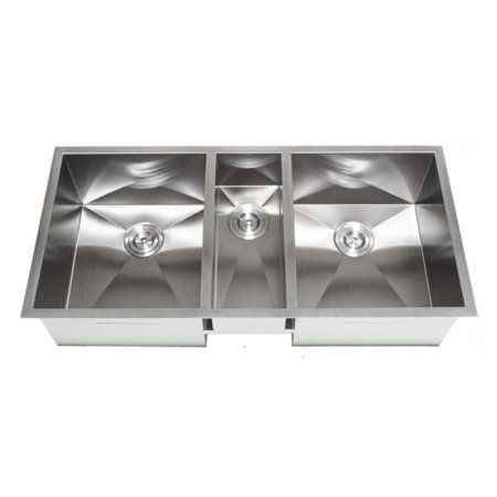 Contempo Living Inc 42-Inch Triple Bowl Undermount Zero Radius Kitchen Sink
