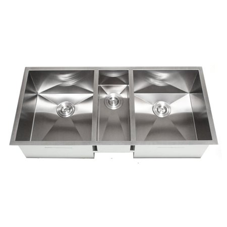 Contempo Living Inc 42-Inch Triple Bowl Undermount Zero Radius Kitchen Sink