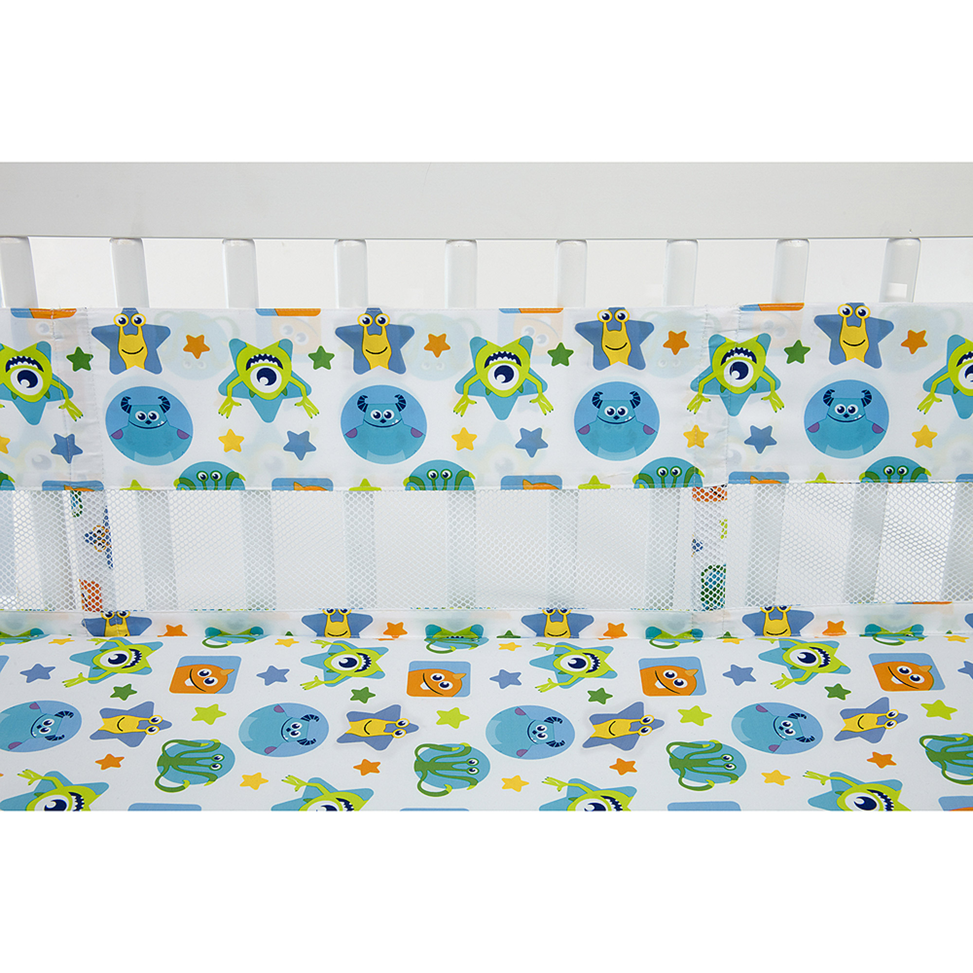 Disney Monsters On the Go Secure-Me Crib Liner