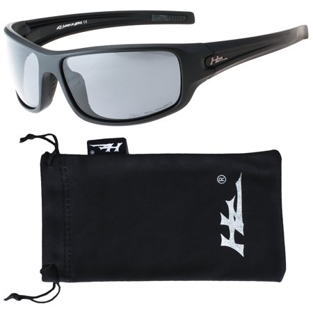 HZ Series Arkana - Premium Polarized Sunglasses by Hornz - Matte Black Frame - Dark Smoke Lens