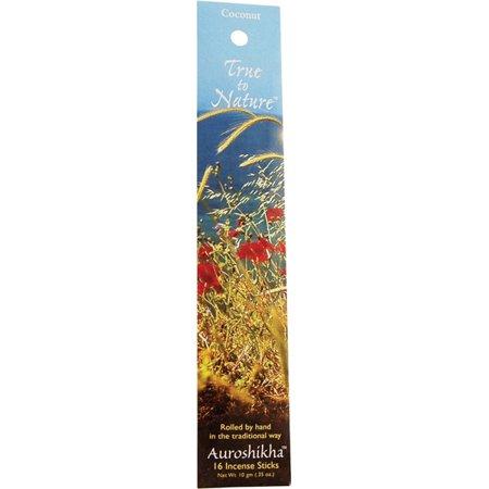 AUROSHIKHA - True To Nature Incense Coconut -  10 g (0.35 oz.)