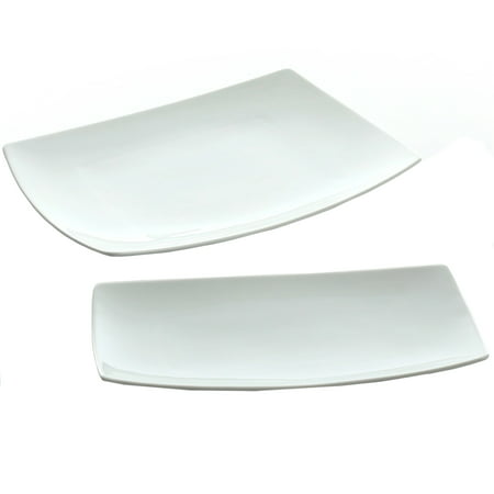 Gibson Elite Gracious Dining 2 Piece Serving Platter Set, - Personalized Serving Platter