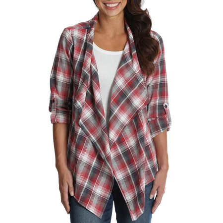 - Women's Plaid Fly Away Top