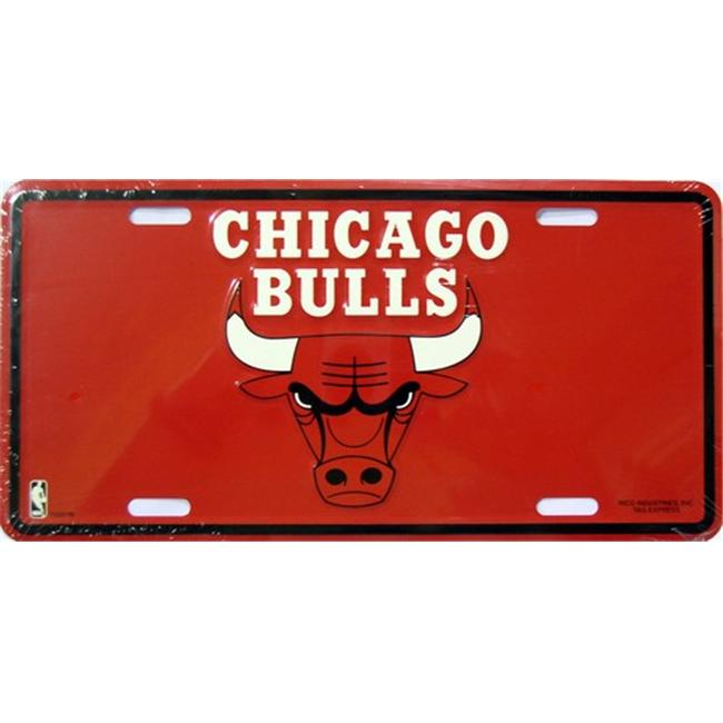 LP - 1046 Chicago Bulls License Plate - 72001M