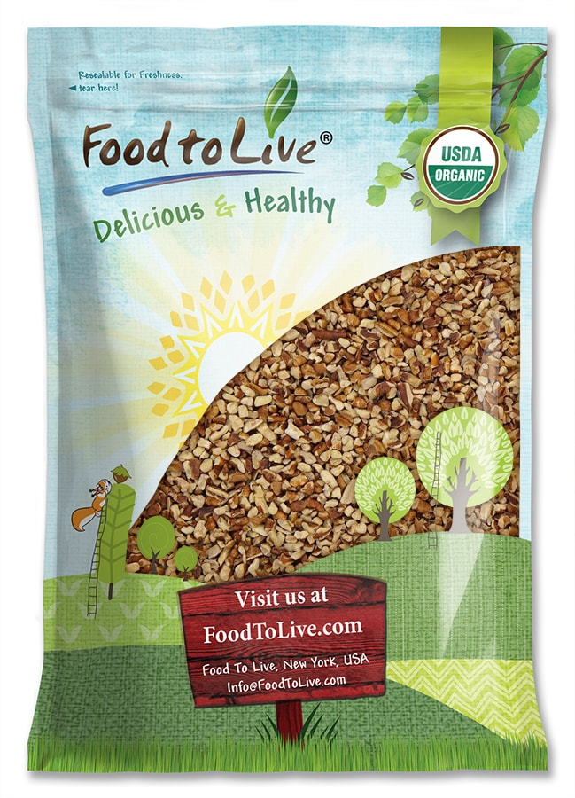 Food to Live Certified Organic Pecan Pieces (Non-GMO, Bulk) (6 Pounds) � by Food to Live