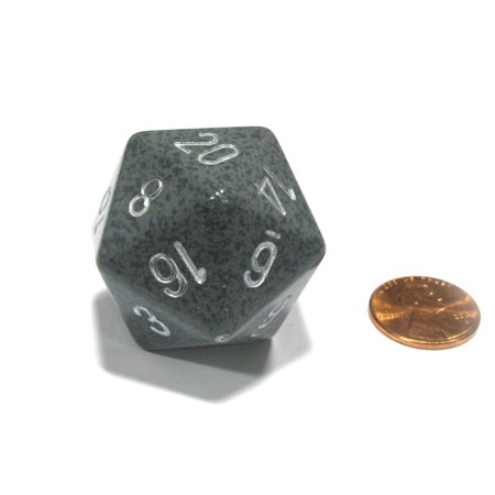 Chessex 34mm Large 20-Sided D20 Speckled Dice, 1 Die - Hi-Tech #XS2003