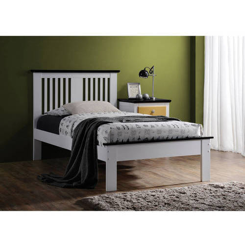 Brooklet Queen Bed, White and Black