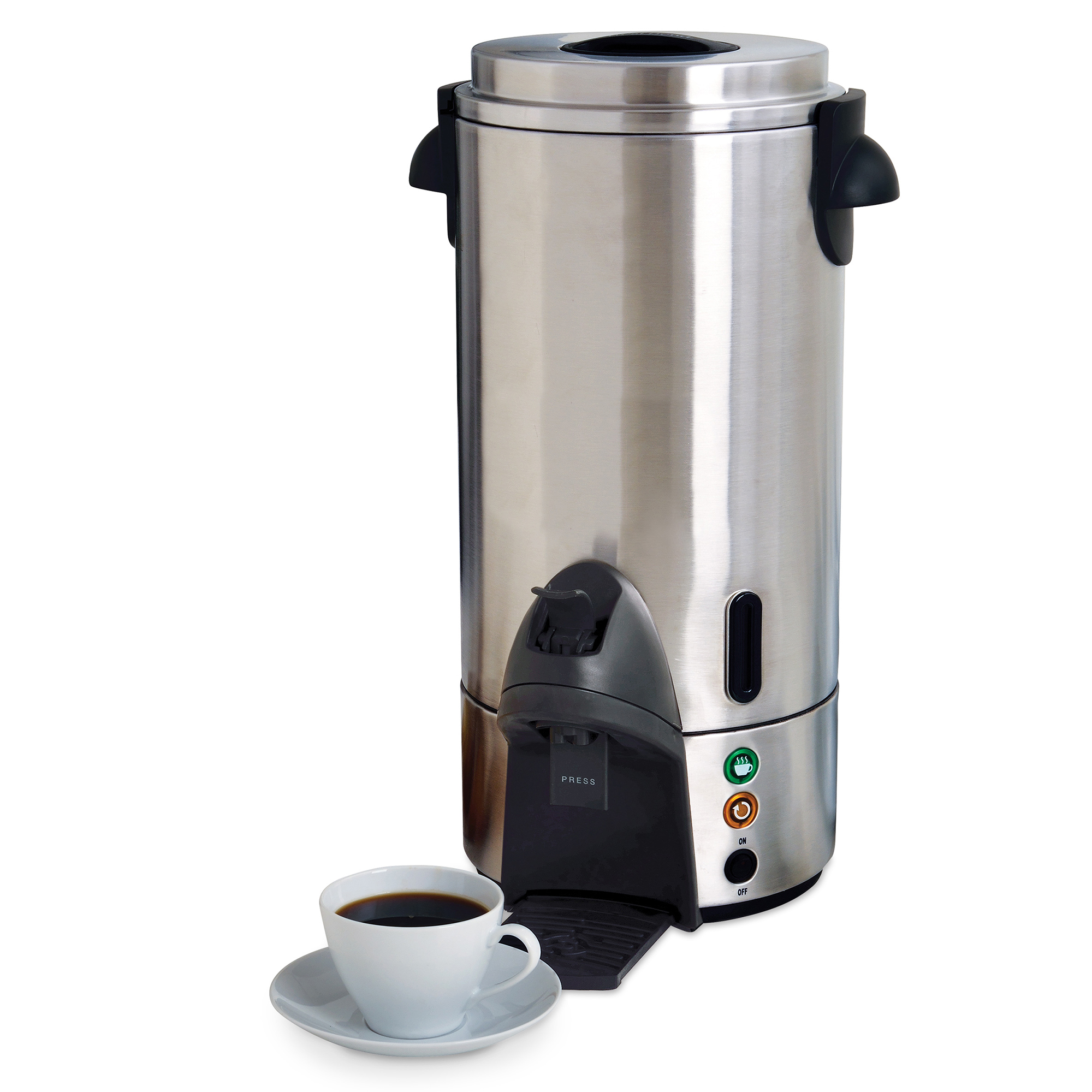 West Bend 54100 100-Cup Commercial Coffee Maker, Stainless Steel