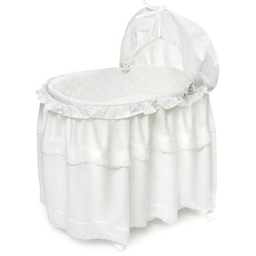 Beau Badger Basket Portable Bassinet U0026 Cradle With Toy Box Base, White
