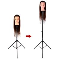 Zerone Adjust Tripod Stand Wig Head Stand Mannequin Tripod Holder for Hairdressing Training