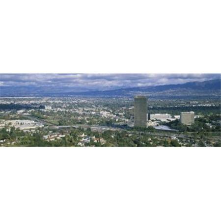 High angle view of a city Studio City San Fernando Valley Los Angeles California USA Poster