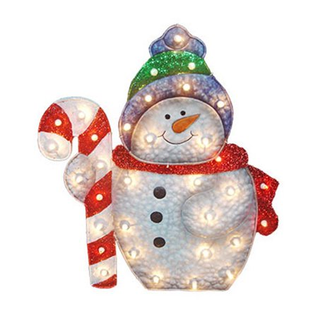 nomainliten import v53730 88 snowman christmas lawn decoration lighted pvc - Lighted Christmas Lawn Decorations