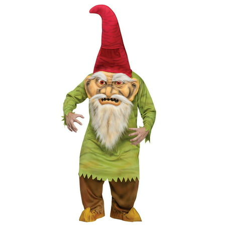 Garden Gnomes Costume (Big Head Evil Gnome Adult Costume - One-Size)