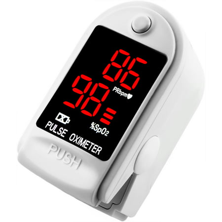 Finger Pulse Oximeter Dp100 In White   The Authentic Pulse Oximeter By Dagamma Cms50dl