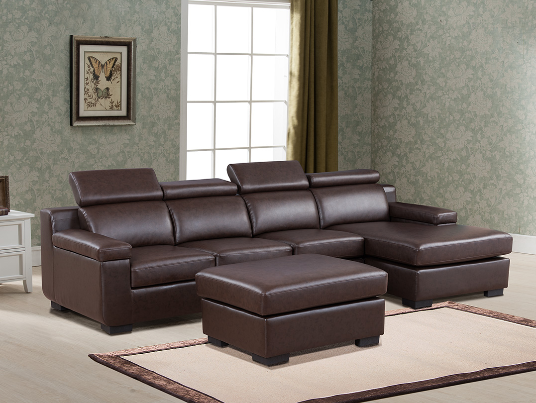Sectional Sofa Coffee Color Chaise Two Seat Sofa Ottoman Footrest Unique Headrest Living Room Furniture Set  sc 1 st  Walmart : unique sectionals - Sectionals, Sofas & Couches