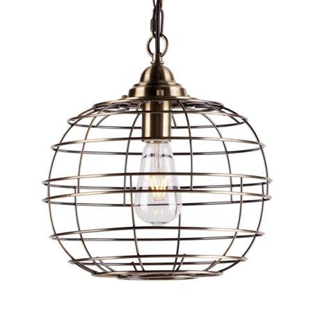 Boston Loft Furnishings Ramsey Industrial Globe Pendant Light 9H