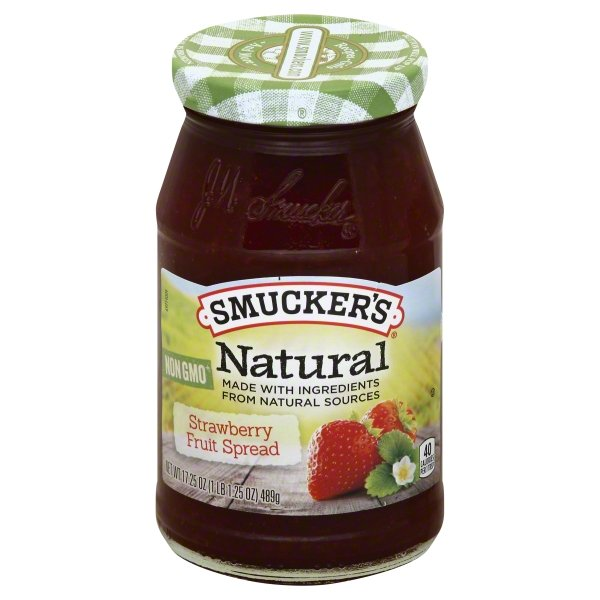 Smucker's Natural Strawberry Preserves, 17.25-Ounce