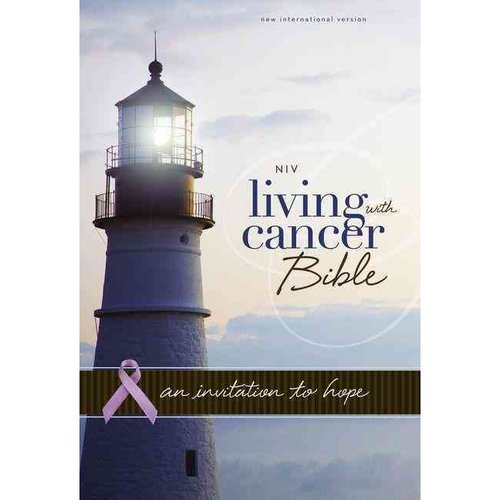 Holy Bible: New International Version, Navy / Chocolate Italian Duo-Tone, Living with Cancer Bible, An Invitation to Hope