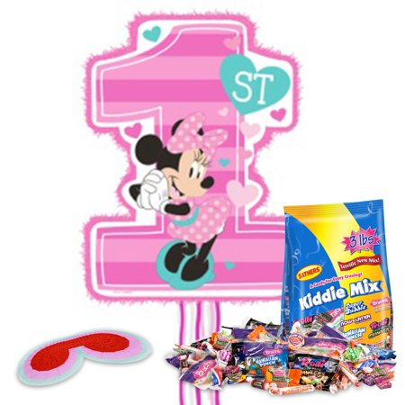 Minnie Mouse 1st Birthday Pinata Kit - Baby Minnie Mouse 1st Birthday Pinata
